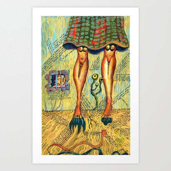 Quite a Pair of Legs Art Print