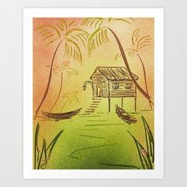 Tigre Delta Art Print