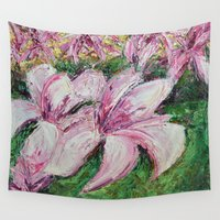 dc Wall Tapestries featuring DC Magnolias by Ann Marie Coolick