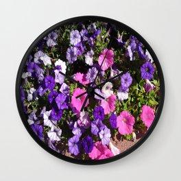 Petunia Patch Wall Clock