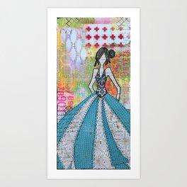 Blue Glamour Art Print