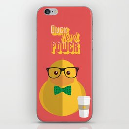 duck nerd power iPhone Skin