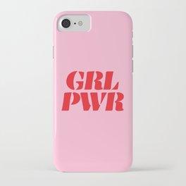 Girl Power GRL PWR iPhone Case