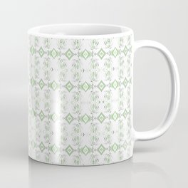 Modern Polynesian Neo Tribal Micro Print Minimalist Light Green Coffee Mug