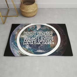 Earth Provides, Mahatm Gandhi Rug