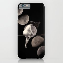 Moon Phases with Vintage Witch iPhone Case