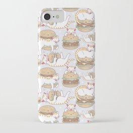 Cat burgers iPhone Case