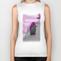 leaf Biker Tanks featuring Leaf by Aloke Design