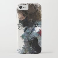 water colour iPhone & iPod Cases featuring Winter Soldier Water Colour by Scofield Designs