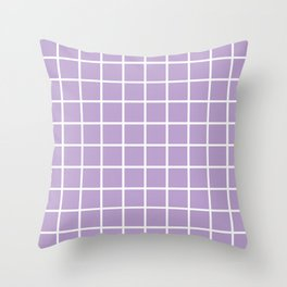 Lavender Grid Pattern2 Throw Pillow