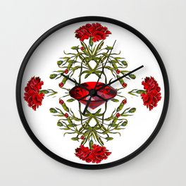 Birth Stone & Flower Print/JANUARY Wall Clock