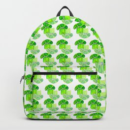 Broccoli green pattern Backpack