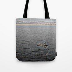 Dolphin Leap Tote Bag