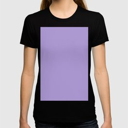 Light Chalky Pastel Purple Solid Color T-shirt