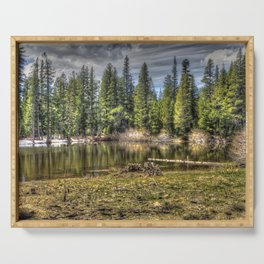 Reflecting Pond at Carson Spur, Amador County CA Serving Tray