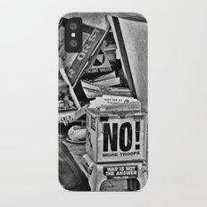 War is NOT the answer iPhone X Slim Case