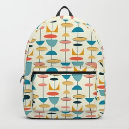 Mid century modern abstract shapes pattern Backpack