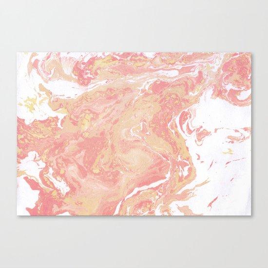 Marble texture background pastel cream shades . Canvas Print