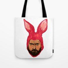 Angry Funny Bunny Tote Bag