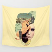aquarius Wall Tapestries featuring Aquarius by Francisca Pageo