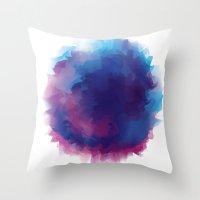 watercolour Throw Pillows featuring watercolour by HelloDarlingDesign