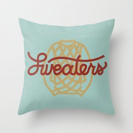 Sweaters Throw Pillow