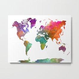 World map in watercolor 25 Metal Print