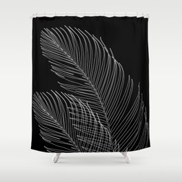 Palm Leaves Finesse Line Art #2 #minimal #decor #art #society6 Shower Curtain