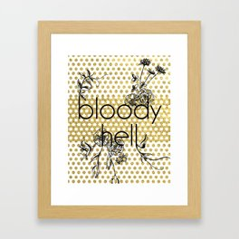 Bloody Dotty Hell Framed Art Print