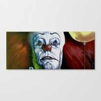 pennywise Canvas Prints featuring Pennywise by Todd Spence