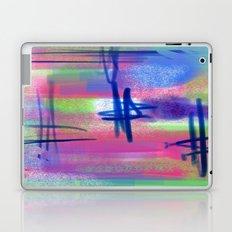 Blue Scribble Background Laptop & iPad Skin