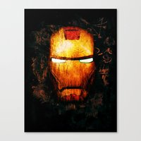 iron man Canvas Prints featuring Iron Man by Sirenphotos