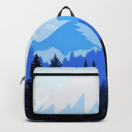 Spring with the mountain view Backpack
