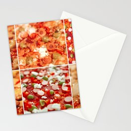 Fresh Hot Homemade Pepperoni Pizza Stationery Cards