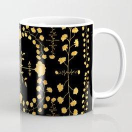 gold native floral Coffee Mug