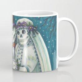 CEMETERY NUPTIALS - Susan Brack Skeleton Halloween Wedding Coffee Mug