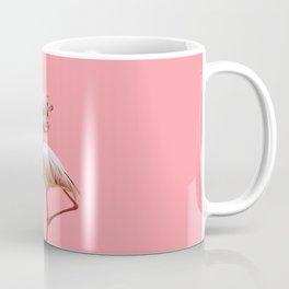 Flock of flamingos on a pink background Coffee Mug