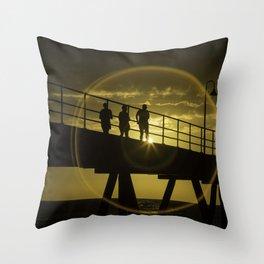 Sunset at Gleneig Jetty Throw Pillow