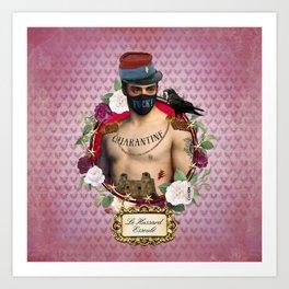 Quarantine 4 - Le Hussard Esseulé Art Print
