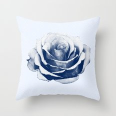 HALFTONE ROSE Throw Pillow