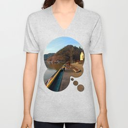River Danube valley, at the harbour | waterscape photography Unisex V-Neck