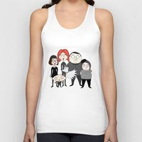 tim burton Tank Tops featuring Tim Burton Family Guy by Grace Isabel