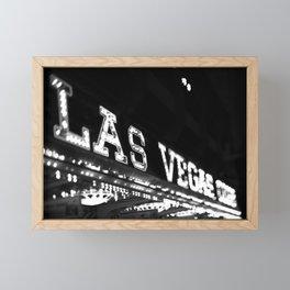 Vintage Las Vegas Sign - Black and White Photography Framed Mini Art Print