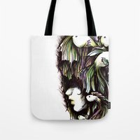 the life aquatic Tote Bags featuring Aquatic by Emma Lettera