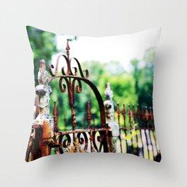 Cemetary Gate Throw Pillow