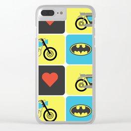 The Bike & The Bat Clear iPhone Case