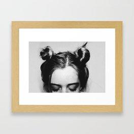 Space Buns Framed Art Print