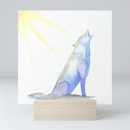 Snow Wolf Painting Mini Art Print