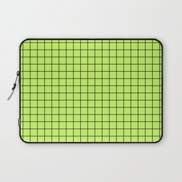 Lime Green with Black Grid Laptop Sleeve