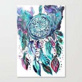 Blue Dream Catcher Canvas Print